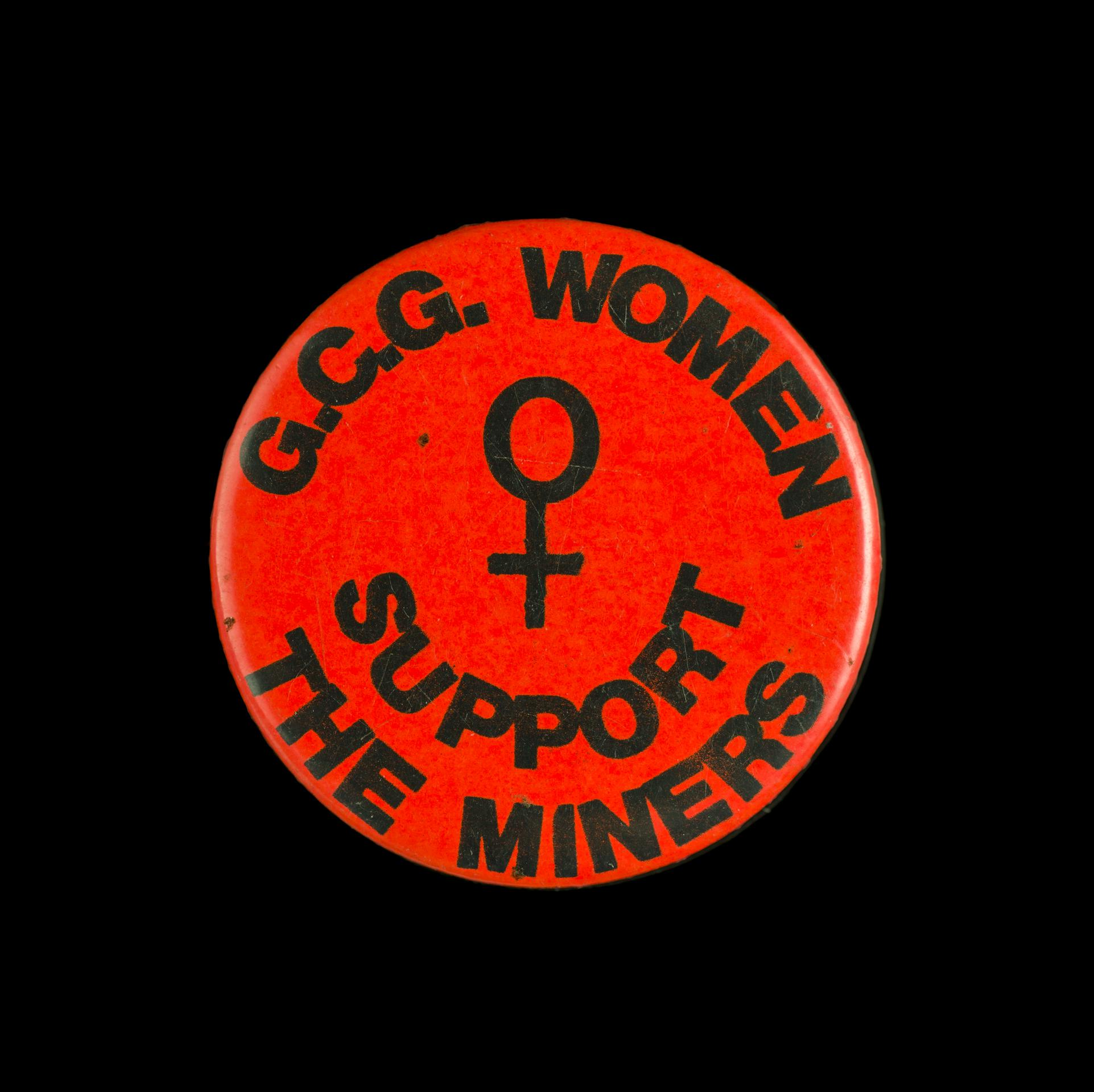 Badge, G.C.G Women Support the Miners'.