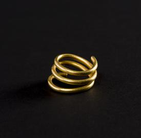 Middle Bronze Age - gold spiral ring