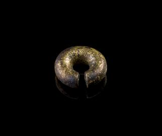 Late Bronze Age - gold and copper hair-ring