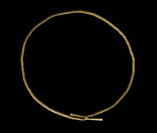 Middle Bronze Age gold bar torc