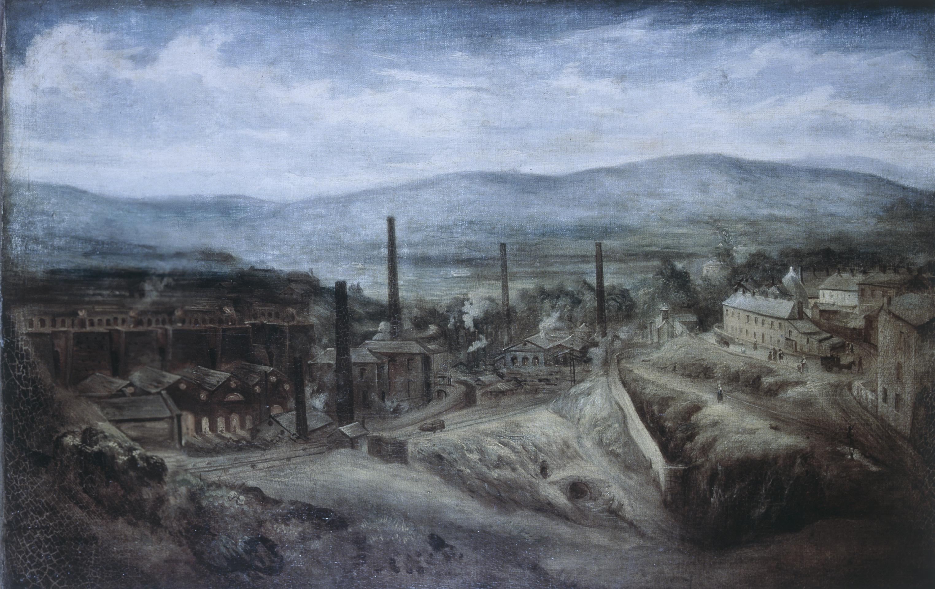 Open the image 'Penydarren ironworks, negative'