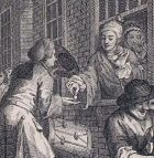 Manylyn o William Hogarth, 'Industry and Idleness: The Industrious 'Prentice Married', 1747