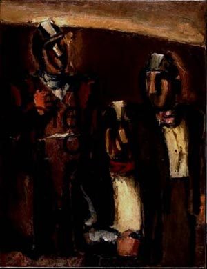 Josef Herman - Three Welsh Miners