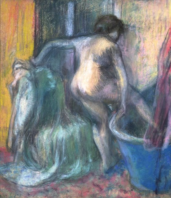 Degas, Edgar. Woman at the bath. (1900)
