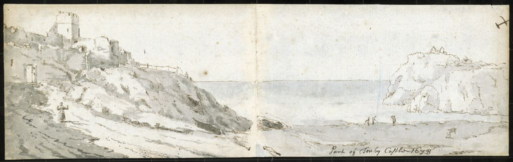 <em>Tenby Cliffs</em> (1678), Francis Place.