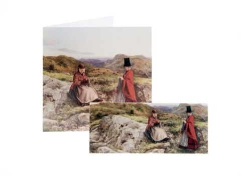 William Dyce card with detachable magnetic bookmark