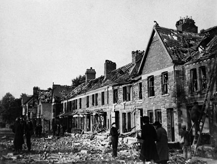 Bomb Damage at Allensbank Road, Cardiff