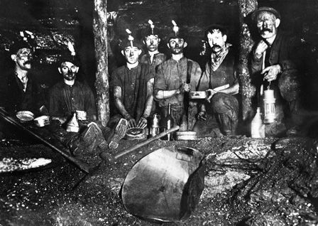Miners Underground at Resolven Colliery