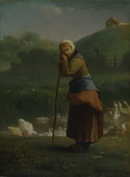 The Goose Girl at Grunchy, 1854-56 (oil on canvas)