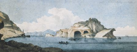 Gajola, near Naples, 1778 (pencil and w/c on paper)
