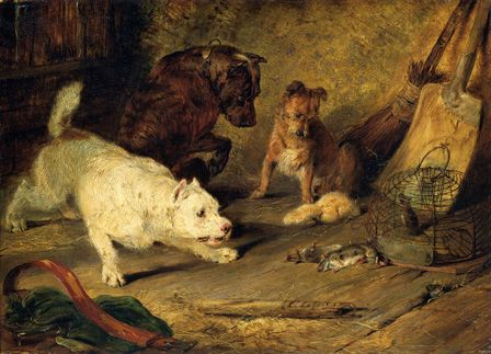 Ratcatchers, 1821 (oil on board)