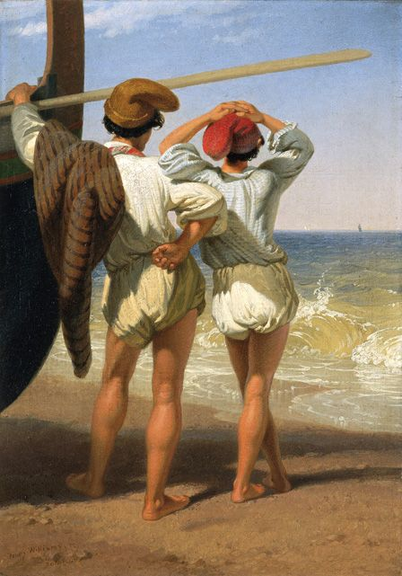 Fisher Boys (oil on canvas)