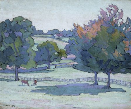 Maples at Cuckfield, Sussex, 1914 (oil on canvas)