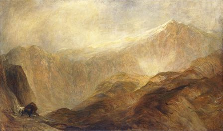 Snowdon (oil on canvas)