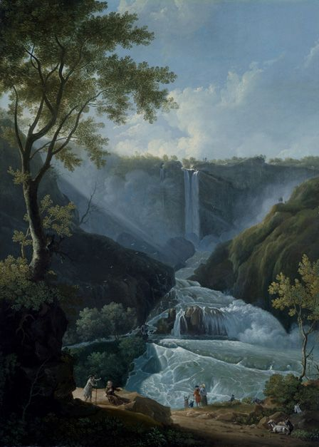 The Falls of Terni,1767 (oil on canvas)