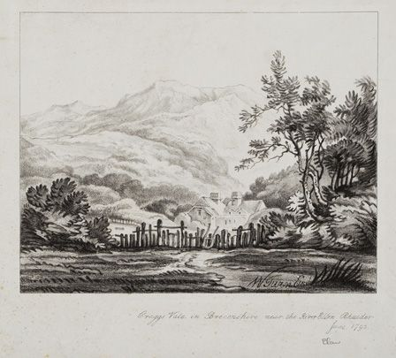 Vale of Elan, 1972 (copperplate line engraving on paper)