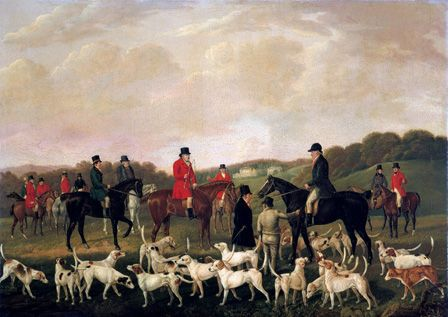 The Llanharan Hunt (oil on canvas)