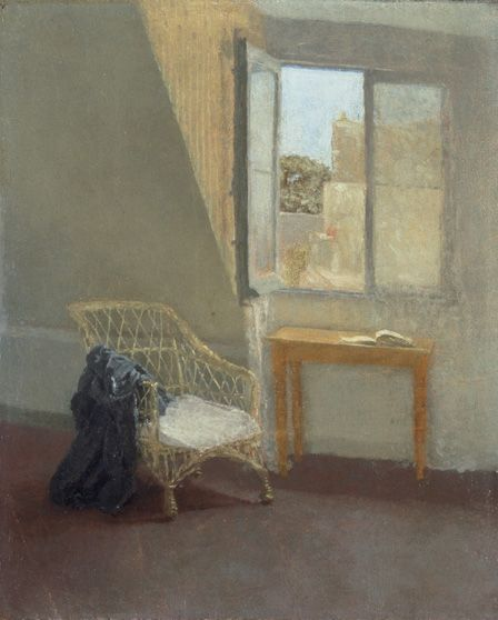 A Corner of the Artist's Room in Paris, 1907-09 (oil on canvas)