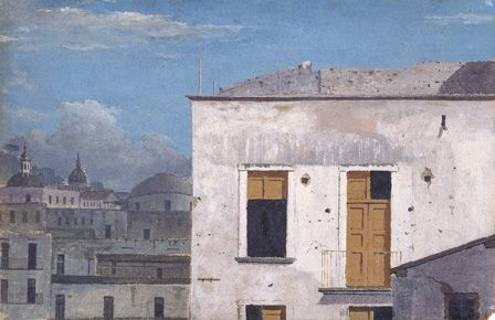 Buildings in Naples, 1782 (oil on paper)
