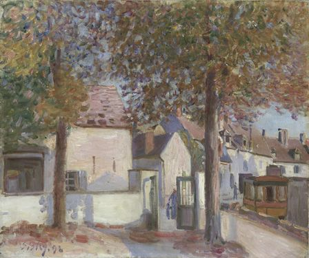 Moret-sur-Loing (Rue de Fosses), 1892 (oil on canvas)
