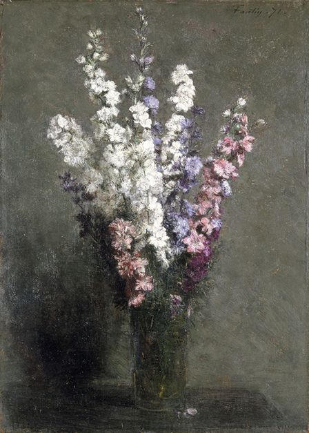 Larkspurs, 1871 (oil on canvas)