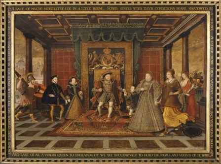 The Family of Henry VIII: An Allegory of the Tudor Succession, c.1570-75 (panel)