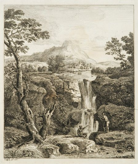 Landscape with Cascade, 1763 (etching on paper)