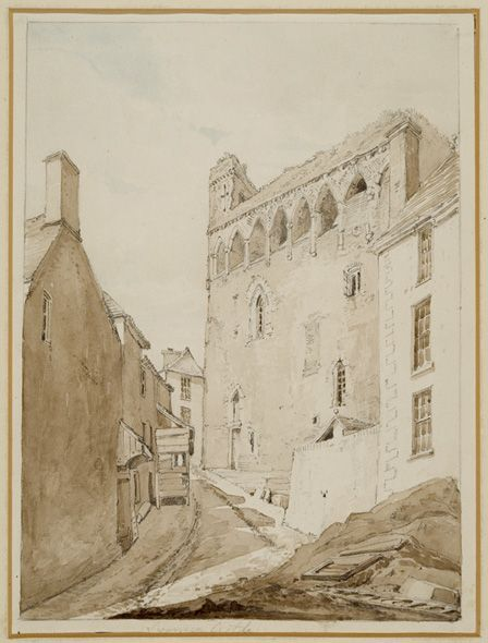 Swansea Castle (w/c and pencil on paper)