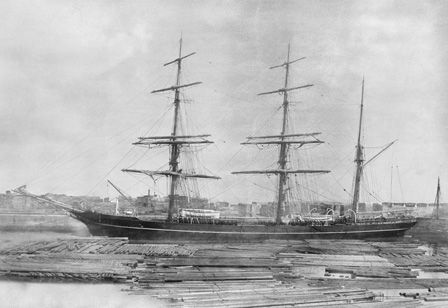 The Sailing Vessel General Picton (b/w photo)