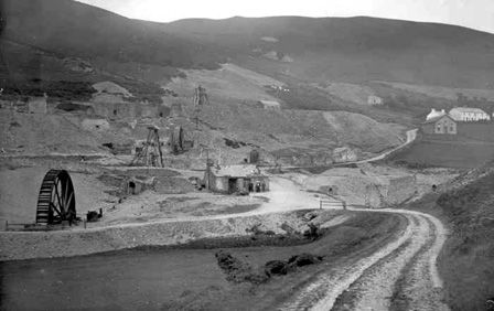 Cwmerfin Lead Mine (b/w photo)