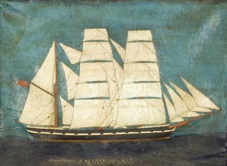The Barque, the granville (oil on canvas)