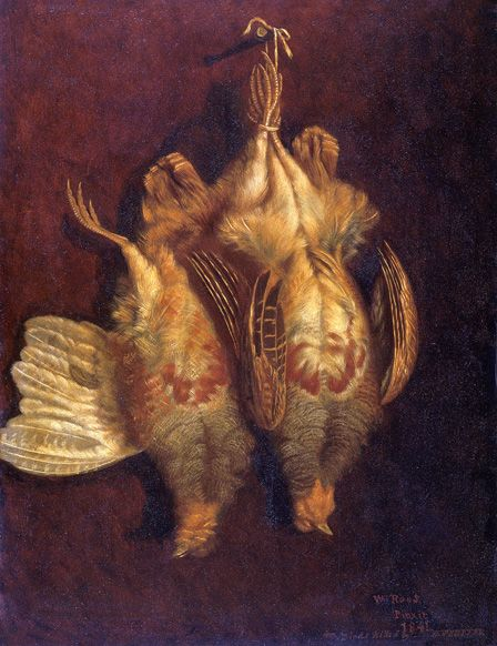 Still Life with Partridges 1841 (oil on panel)