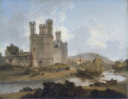 Caernarvon Castle 1792 (oil on canvas)