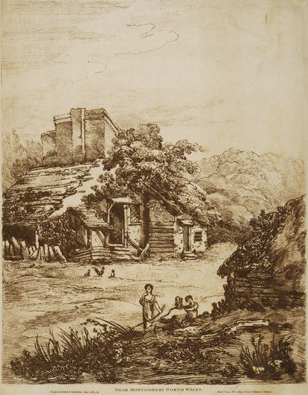 View near Montgomery 1810 (soft ground etching)