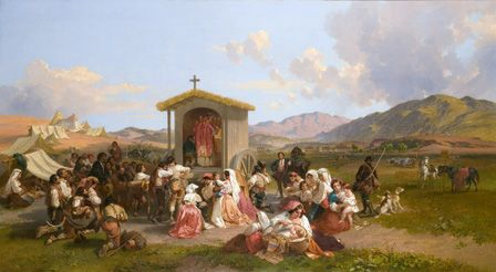 Mass for the Reapers, 1858 (oil on canvas)