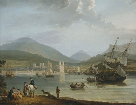 Caernarvon Castle and Bay (oil on canvas)
