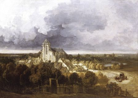 View of Meaux (oil on canvas)