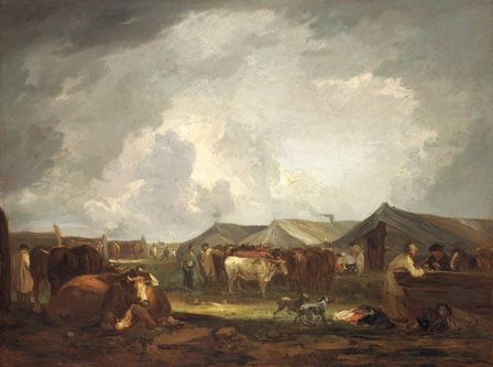 The Cattle Fair (oil on canvas)