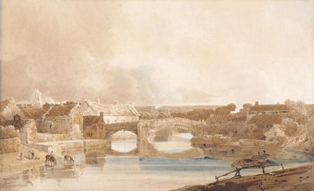 Morpeth Bridge, Northumberland, c.1801 (pencil & w/c on paper)
