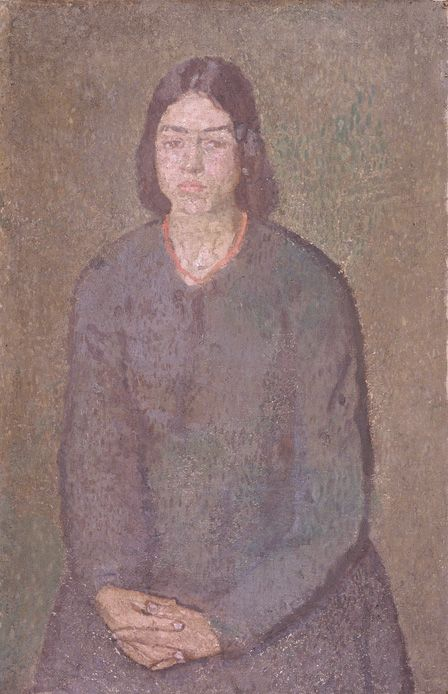 Girl in a Green Dress (oil on canvas)