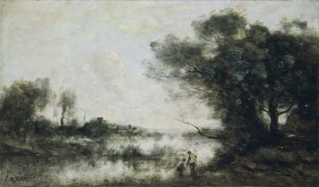 The Pond (oil on canvas)