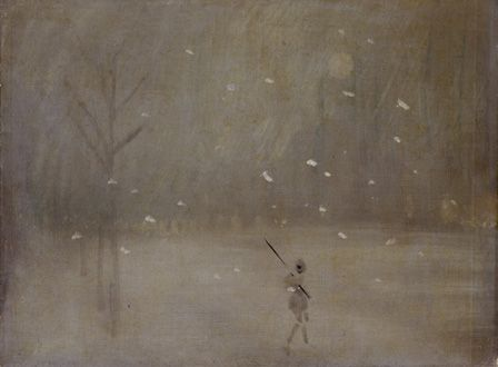 Snowstorm (oil on canvas)