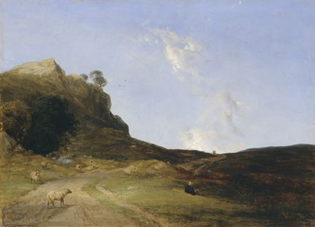 Moorland Landscape, 1840 (oil on canvas)