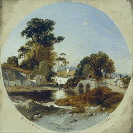 View at Whitchurch, 1843 (oil on canvas)