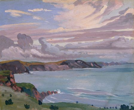 Pembroke Coast (oil on panel)