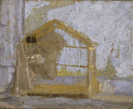A Birdcage (oil on canvas)