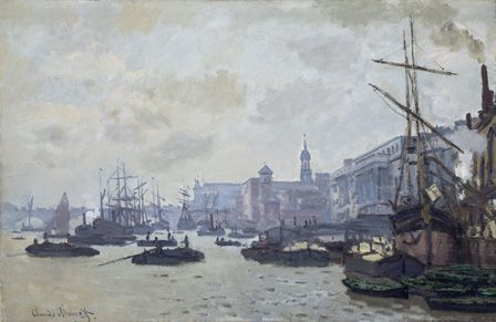 The Thames at London, 1871 (oil on canvas)