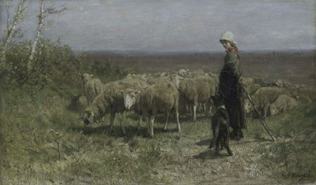 Shepherdess (Oil on canvas)