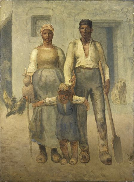 The peasant family, 1871-72 (Oil on canvas)