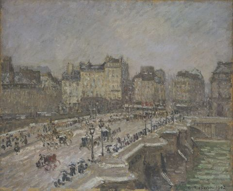 Pont Neuf, snow effect, 2nd series, 1902 (Oil on canvas)